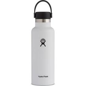 Hydro Flask Standard Mouth Bottle with Standard Flex Cap 532ml white